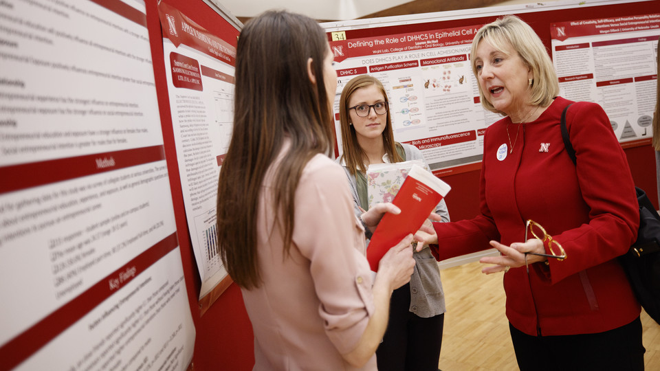 Gretchen Bergquist honored at UNL Research Fair